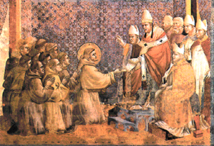 El Papa es el representante tangible de la Divinidad y cualquier idea, cierta o no, opuesta a la doctrina de la Iglesia es considerada herejía.
